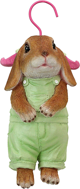 Design Toscano QM2928400 Hanger Hare Hanging Bunny Rabbit Statue, Full Color