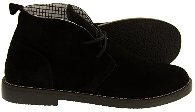 907cc9928 Northwest Territory Mens Leather Suede Barlow Desert Ankle Boots with Laces:  Amazon.co.uk: Shoes & Bags