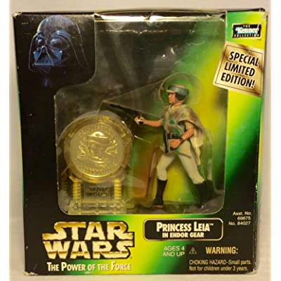 Star Wars-Princess Leia in Endor Gear with Exclusive Collector's Coin: Toys & Games