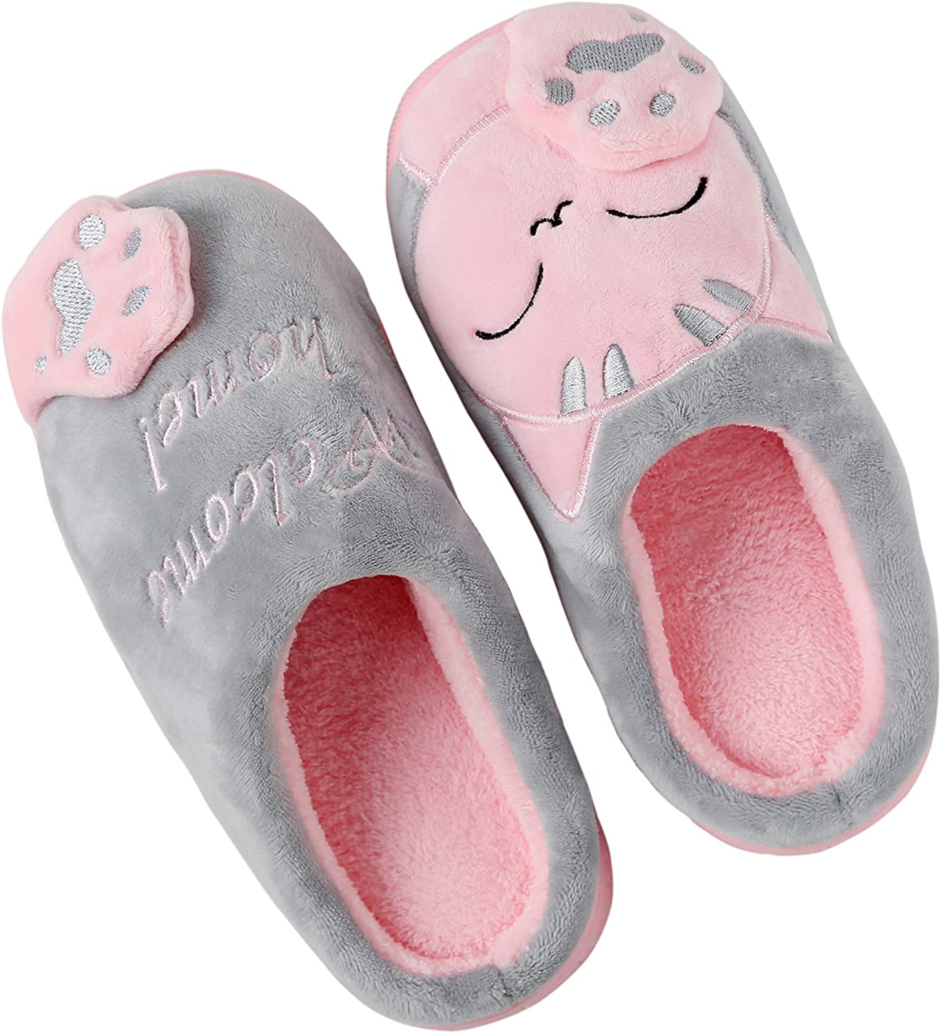 10-12 Years Anddyam Kids Family Cute Cat Household Anti-Slip Indoor Home Slippers for Girls and Boys Big Kid ,