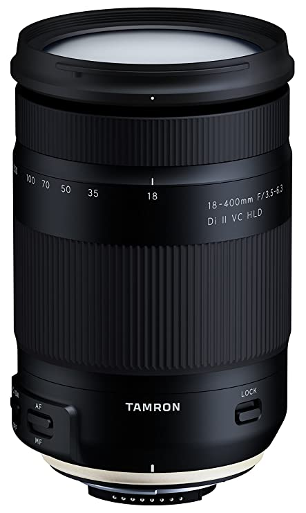 Tamron 18-400mm F/3.5-6.3 Di II VC HLD for Nikon DX DSLR Camera Lenses at amazon