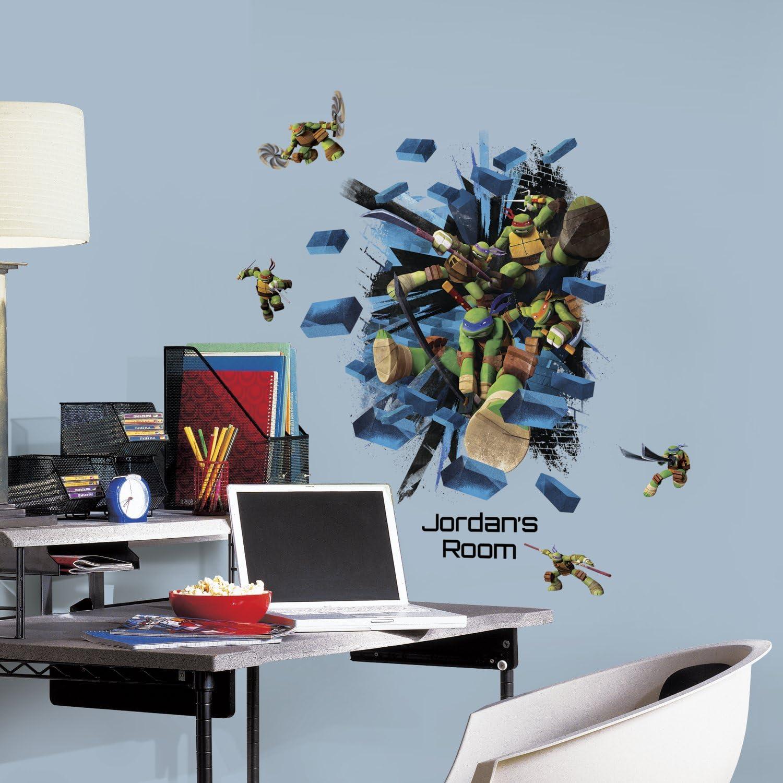 RoomMates Teenage Mutant Ninja Turtles Peel & Stick Wall Décor Set