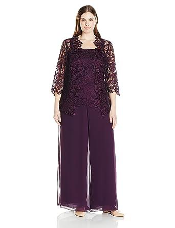 f164100ff7b Emma Street Women s Plus Size Lace Pant Suit Combo