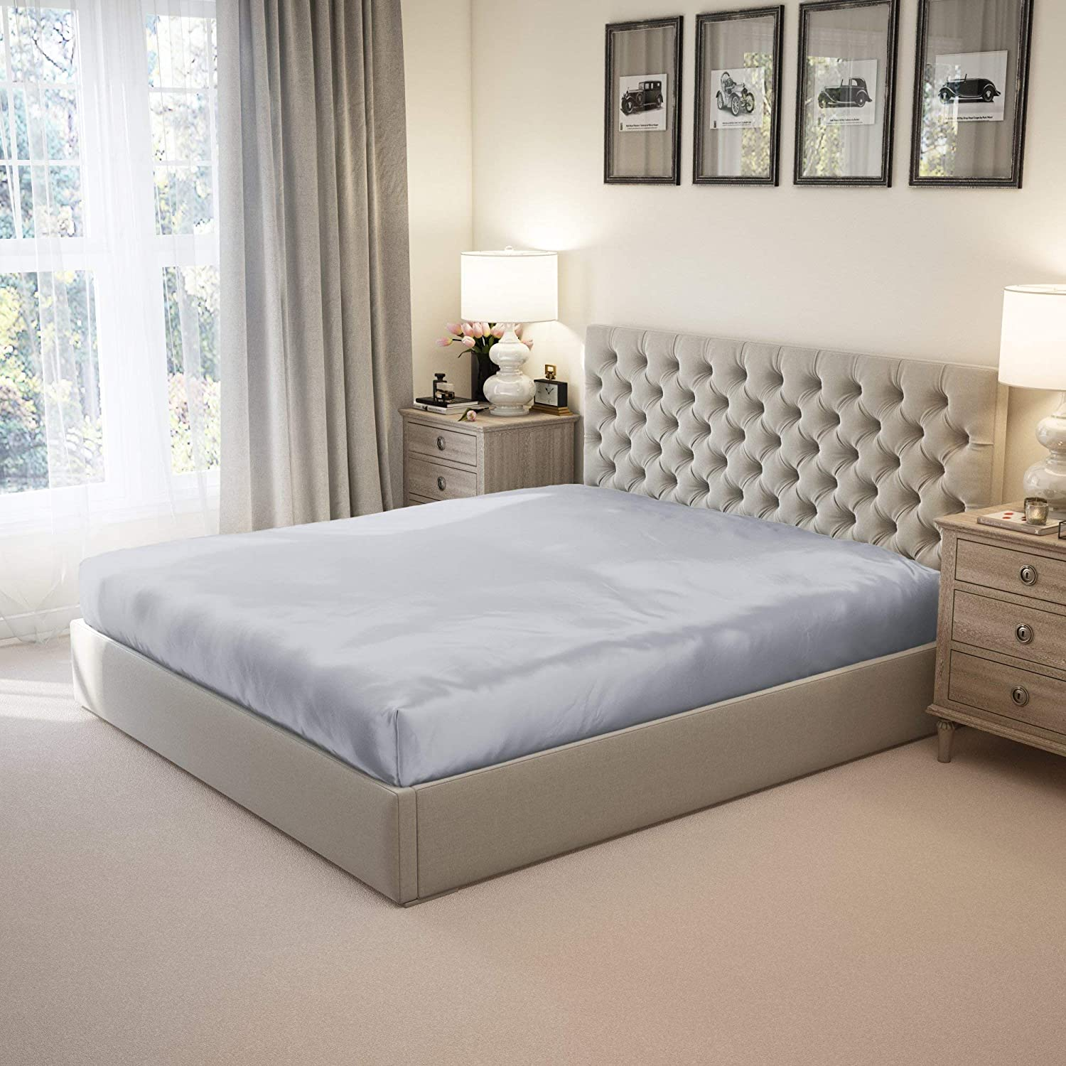 Mulberry Superior Park 100% Pure Queen Silk Large-scale sale 22 6A Sheet Fitted Mulb Momme