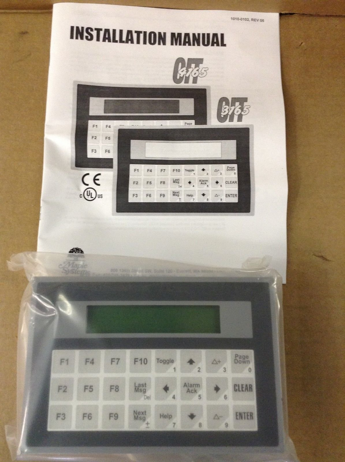 MAPLE SYSTEMS OIT-3165-A00 OPERATOR INTERFACE PLUS12 T13247