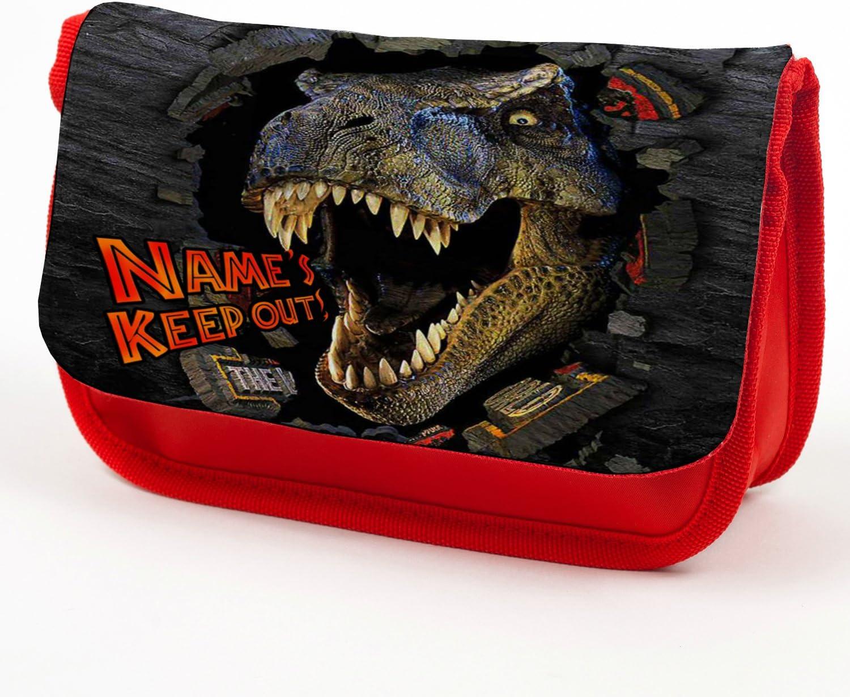 Estuche personalizado para lápices Jurassic Park T Rex Dinosaurio, bolsa de papelería de vuelta a la escuela, regalo – rojo TREX: Amazon.es: Oficina y papelería
