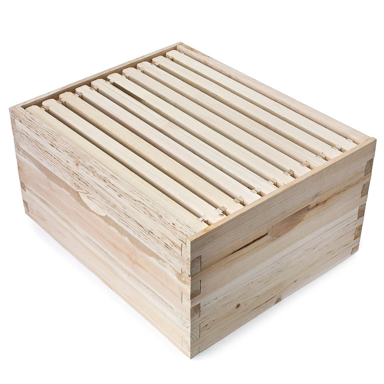 Honig Keeper Beehive 10 Rahmen Kit Super Box und 10 Tief-Rahmen mit ...