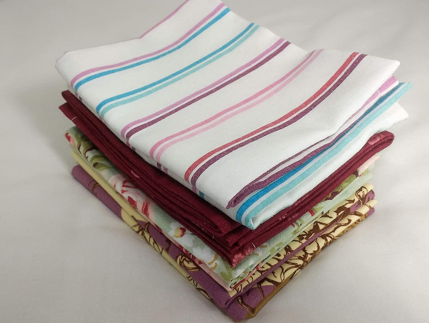 Eco Friendly Cloth Napkins Reusable Cloth Napkins Best Everyday Cloth Napkin Zero Waste Recycled Textiles Jewel Tone Mixed Patterns
