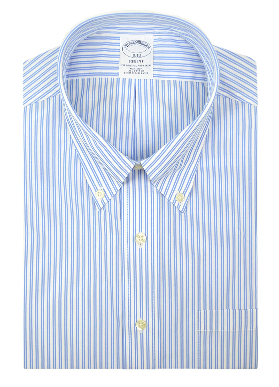 BROOKS BROTHERS Slim Fit Non Iron Cotton White Dress Shirt Sz 16.5 34//35
