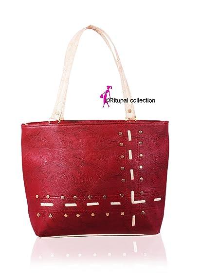 Ritupal Collection Women Shoulder Bag PU (Maroon)  Amazon.in  Shoes    Handbags c516b724fbd87