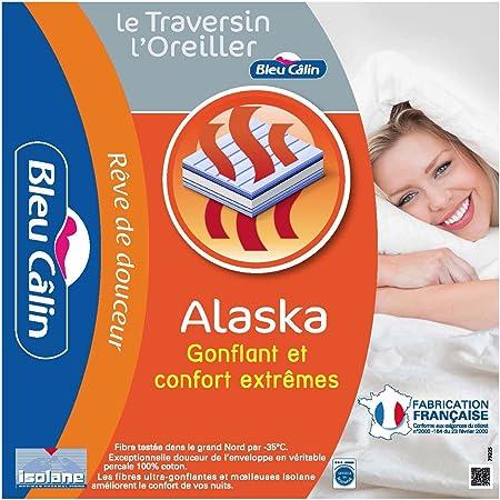 Bleu C/âlin Cuscino alla Francese Comfort Alaska Bianca 90 cm PCPI