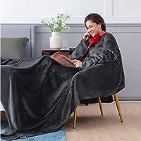 Bedsure Batamanta Polar Mujer Sofa - Manta con Mangas y Bolsillo Hombre para Pies de…