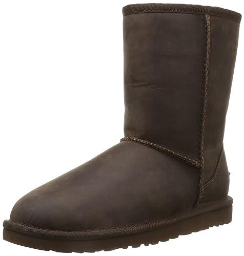 UGG Classic Short Leather, Botines para Mujer, Brownstone, 41 EU: Amazon.es: Zapatos y complementos