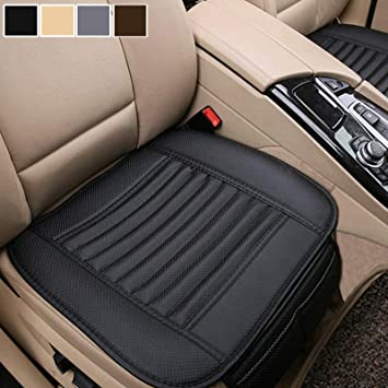 Amazon Com Big Ant Breathable 2pc Car Interior Seat Cover Cushion Pad Mat For Auto Supplies Office Chair With Pu Leather Black Automotive