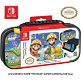 Officially Licensed Nintendo Switch Super Mario Maker 2 Carrying Case - Protective Deluxe Hard Shell Travel Case with Adjusta