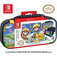 Officially Licensed Nintendo Switch Super Mario Maker 2 Carrying Case - Protective Deluxe Hard Shell Travel Case with…