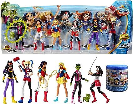 DC Comics Super Hero Girls 6 Action Dolls Figures Beast Boy Wonder Woman Batgirl