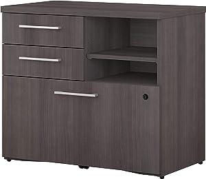 Bush Business Furniture 400 Series 30W Piler Filer Cabinet in Storm Gray