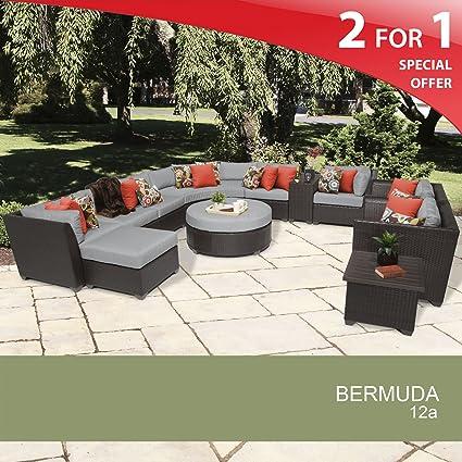 Ordinaire Bermuda 12 Piece Outdoor Wicker Patio Furniture Set 12a