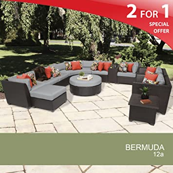 Charming Bermuda 12 Piece Outdoor Wicker Patio Furniture Set 12a
