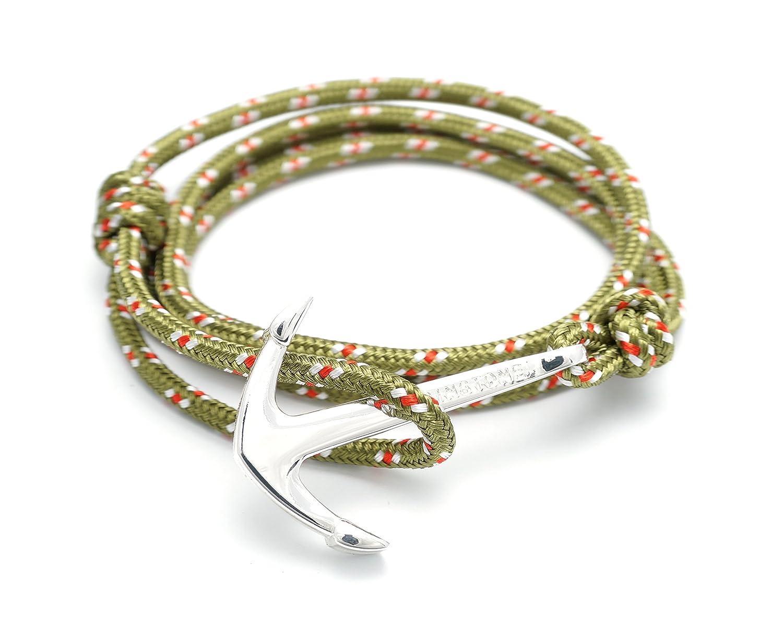 Amazon : Virginstone Silver Anchor Bracelets On Colorful Nylon Ropes  (amazon) : Sports & Outdoors