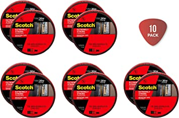 1-Roll Scotch Extreme Mounting Tape 1-Inch X 400-Inches Black 414-Longdc