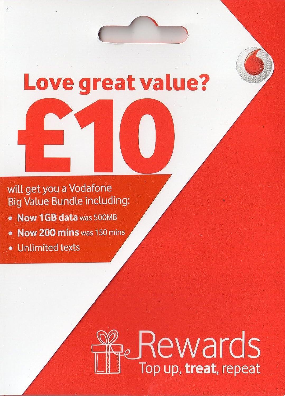 Vodafone Payg Top Up >> 5x Vodafone Payg Pay As You Go Sim Card Amazon Co Uk