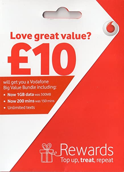 Vodafone Payg Top Up >> 5x Vodafone Payg Pay As You Go Sim Card Amazon Co Uk