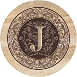 Thirstystone Drink Coaster Set, Monogrammed Letter J
