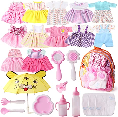 Set of 25 Doll Clothes & Accessories