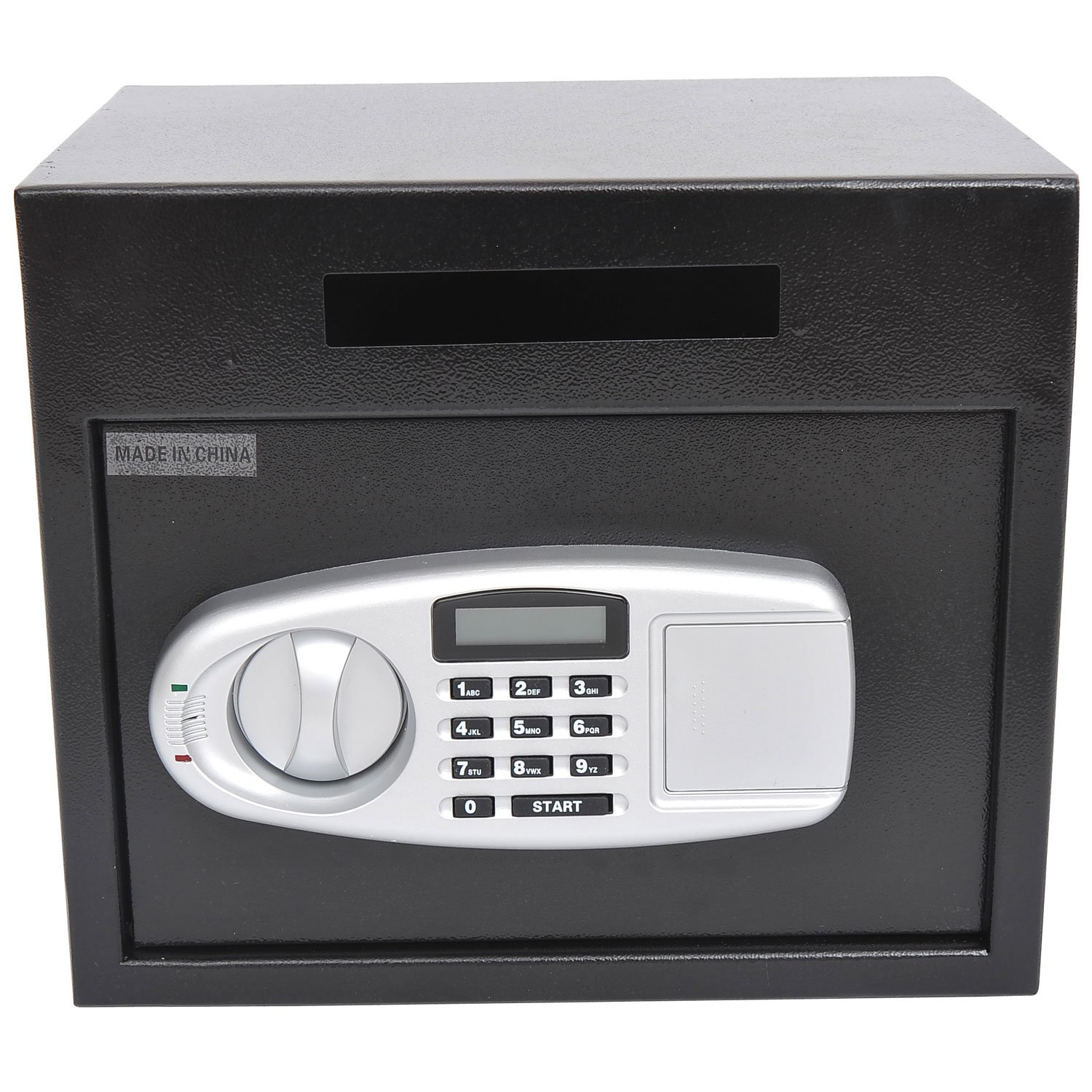 HOMCOM Wall Mounted Steel Electronic Digital Safe Box with Letter Drop Slot Keypad Lock Gun Cash Jewelry Security, Black Mhcanada