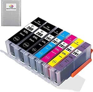 NEXTPAGE Compatible Ink Cartridge Replacement for Canon PGI-280XXL CLI-281XXL Work with TR7520 TR8520 TS6120 TS8120 TS9120 Printer, 7 Pack