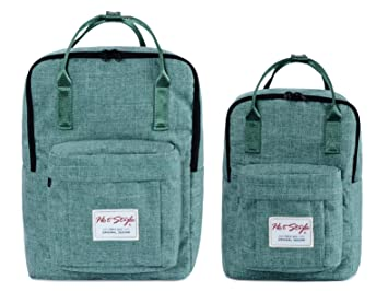Amazon.com    HotStyle Basic Classic  Bestie Cute Diaper Bag Backpack for  Mom (Matching Bundles, Set of 2 Packs), Green   Baby f753e79c37