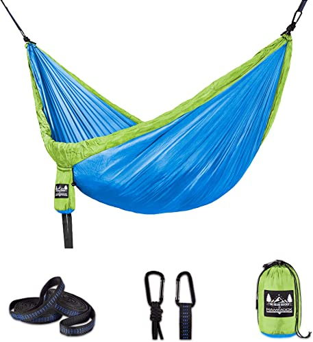 Better Outdoor Supply Hammock Camping Single and Double Tree Straps Included Relaxing Indoor Outdoor Travel Backpacking Survival Emergency