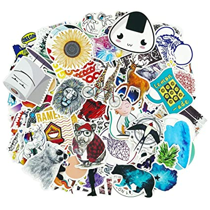 Cute Cartoon Laptop Stickers 100 Pcs Pack Cool Wattle Bottle Vinyl Waterproof Sticker Skateboard Pad Mac Book Car Snowboard Bicycle Luggage Decal by Yongai