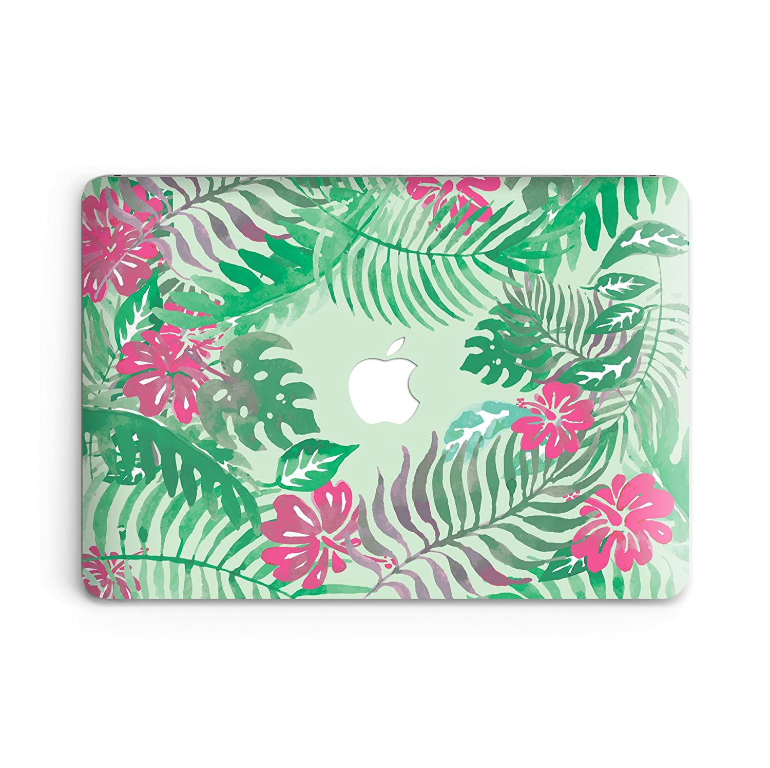 goodmoodcasesプラスチックハードケースカバーfor MacBook Pro Retina 15インチ2013 – 2015 ( a1398 ) without CD ROM ( Not Fit Macbook Pro 15 2016 ) – ピンク&グリーン花柄 B071DZP13C