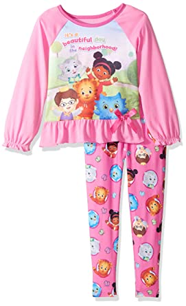 Amazon.com  Daniel Tiger Girls  Toddler 2 Piece Legging Sleepwear ... 9a569e9c8