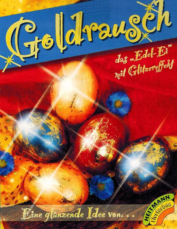 3 colori Colori per uova di Pasqua Goldrausch con effetto strass