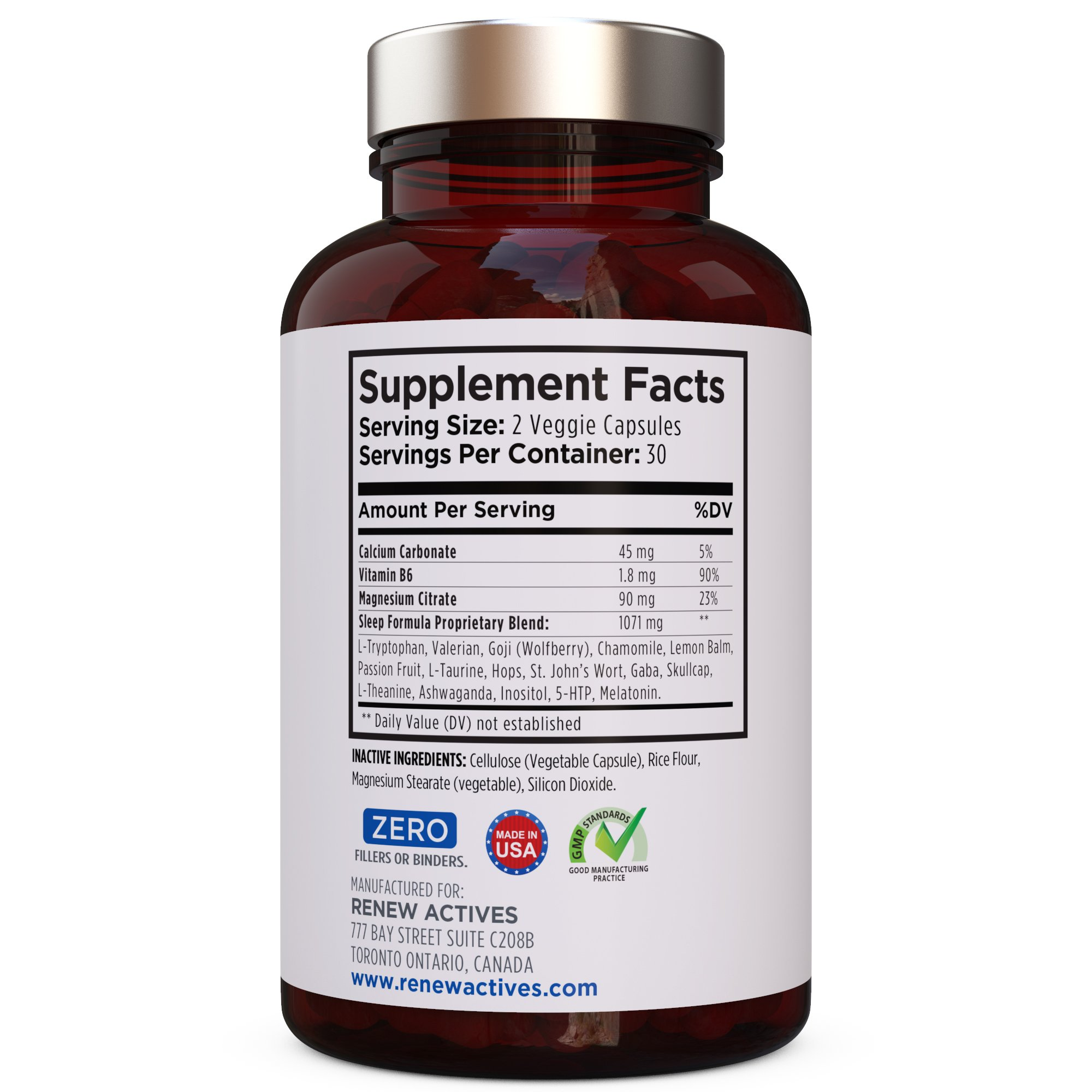 All Natural Sleep Aid Supplement. Non-Habit Forming Sleeping Pill. Our Guarantee is A Deeper, Longer & Restful Sleep! Starting Tonight Get the Peaceful & Natural Sleep You Deserve! by Renew Actives (Image #8)
