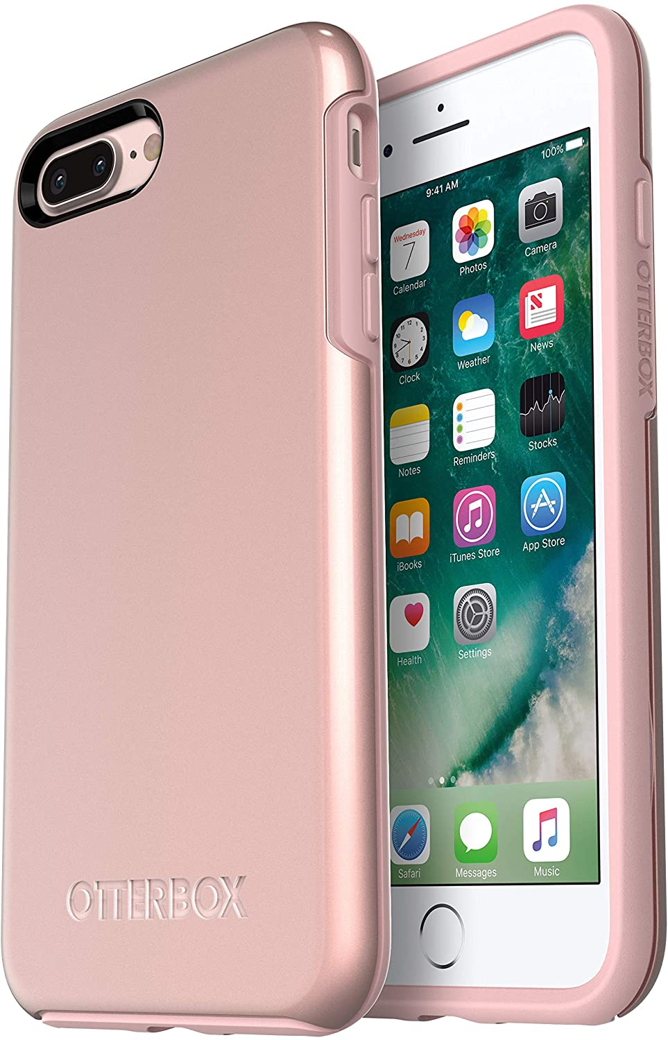OtterBox Symmetry Series Case for iPhone 8 Plus & iPhone 7 Plus - Bulk Packaging - Rose Gold