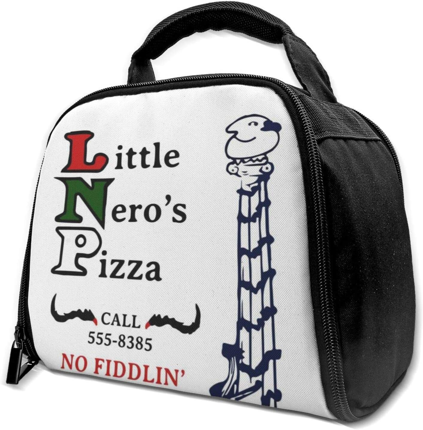 Little Neros Pizza Home Alone Reusable Insulation Bags Picnic Lunch Box For Adult And Kids, Lunch Cooler For Office Work
