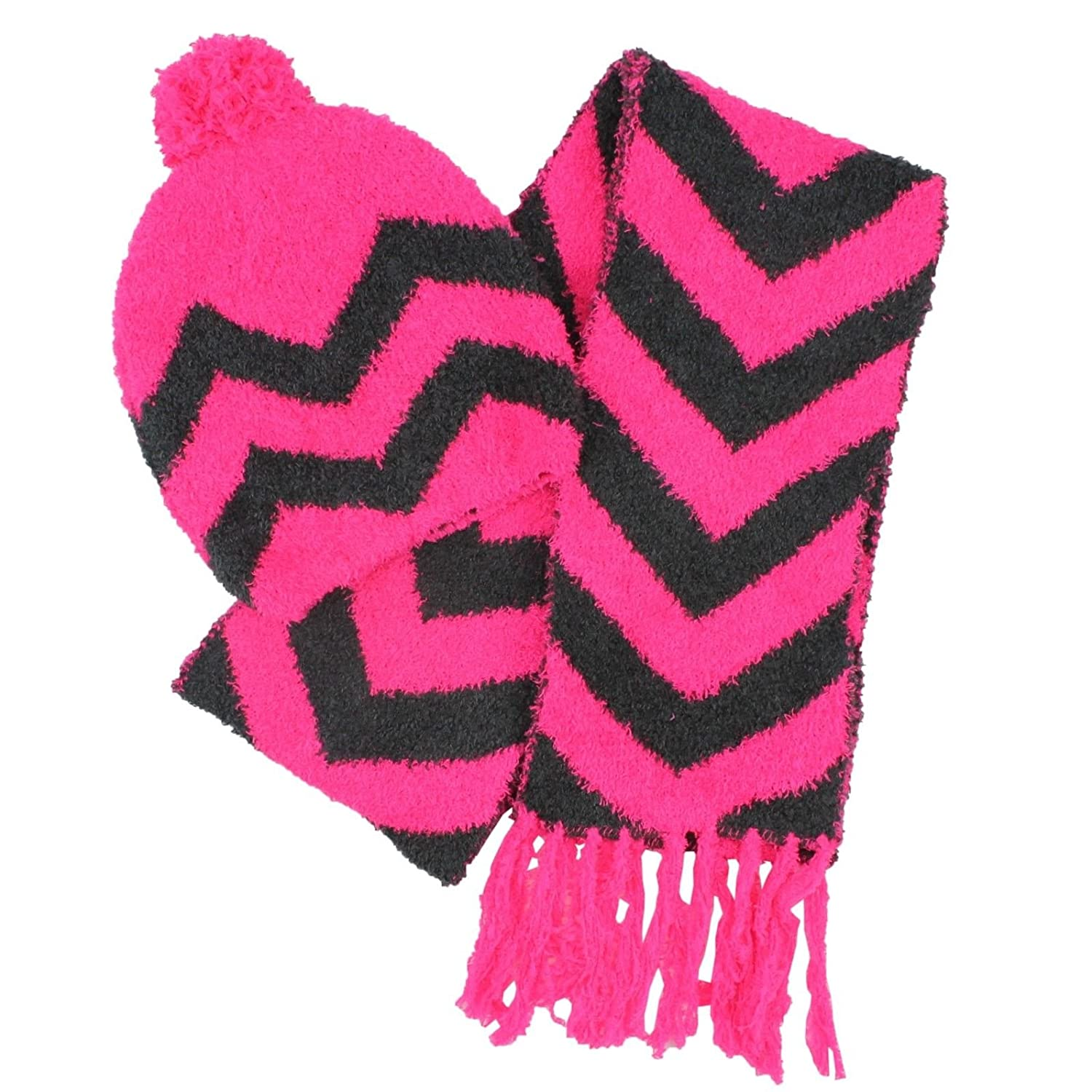 Jumping Beans Chenille Hat /& Scarf 2 Item Set for Girls