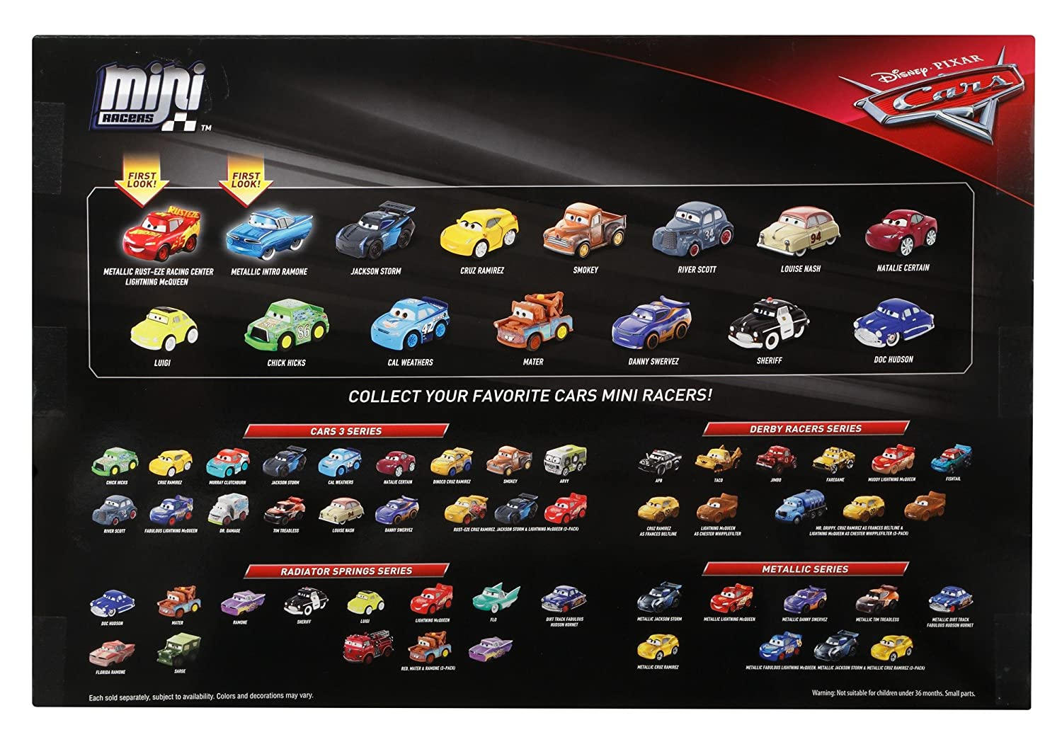Amazoncom Disney Cars Diecast Mini Racers Variety 15 Pack