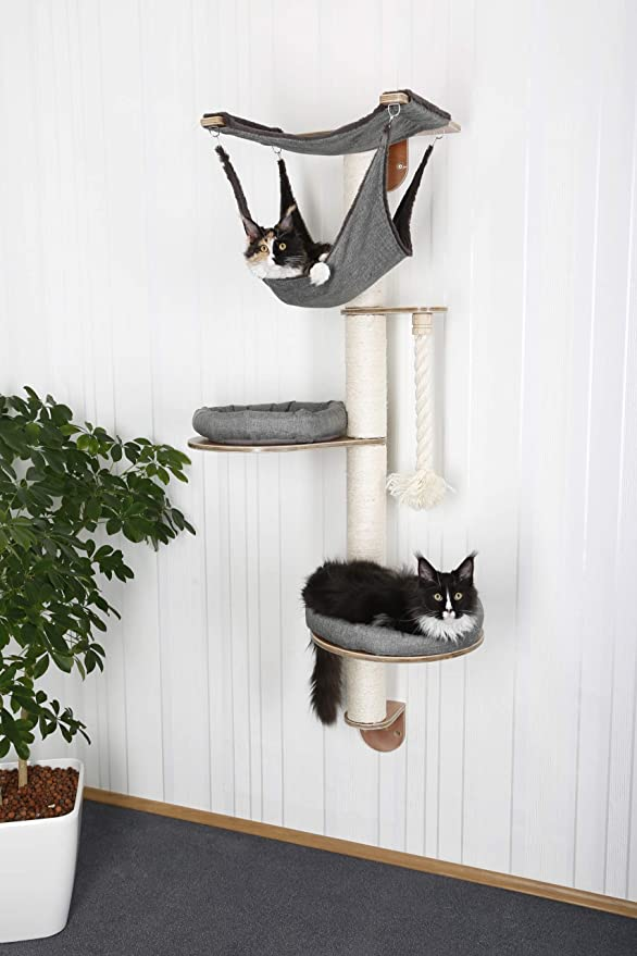 Amazon.com : Kerbl Wall-Mounted Cat Tree Dolomit 2.0 Tofana, Grey : Pet Supplies