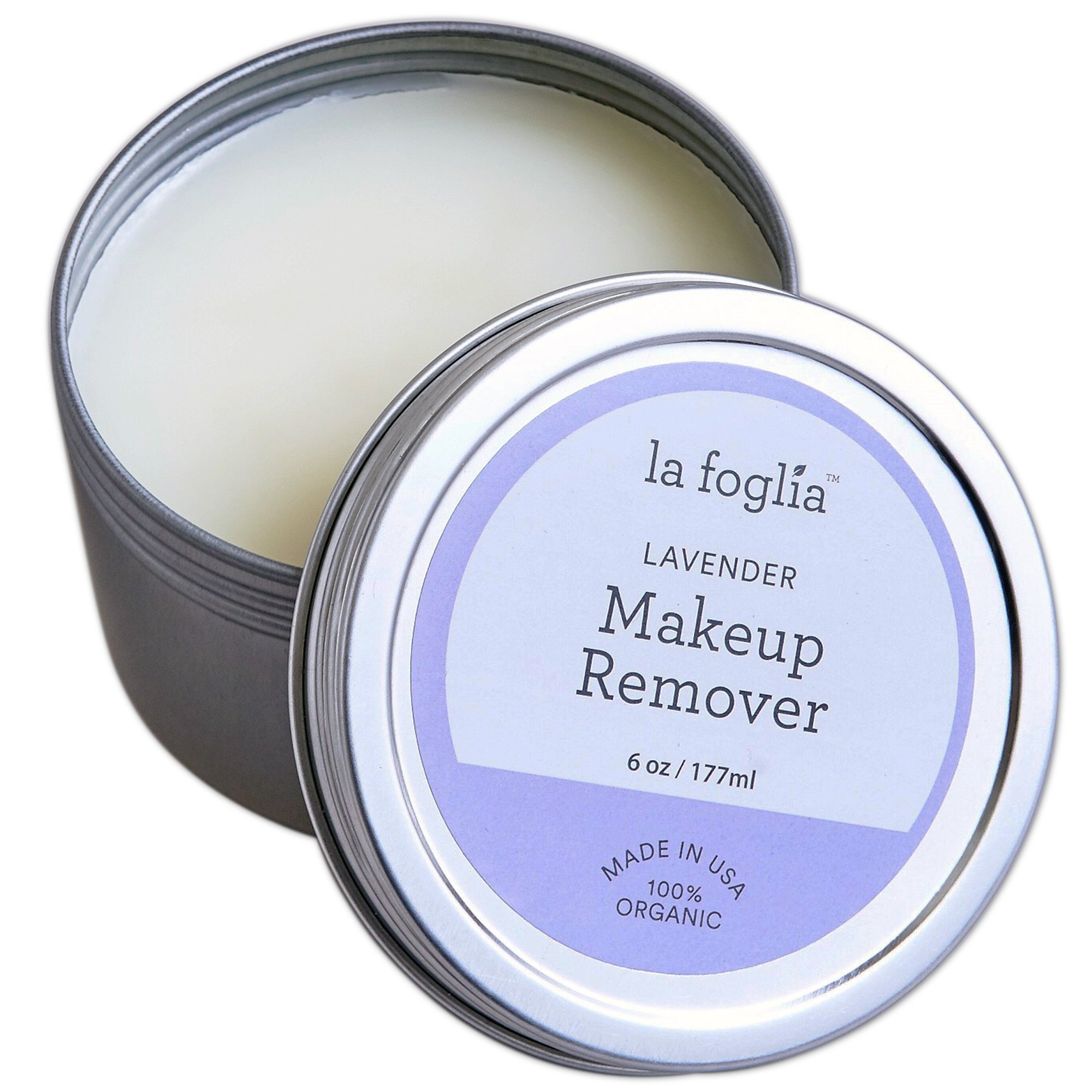 La Foglia Lavender Makeup Remover (Made In USA)100% Organic Lavender Makeup Removal and Face, Body Cream With Pure all Natural Ingredients - 6 Ounces by La Foglia