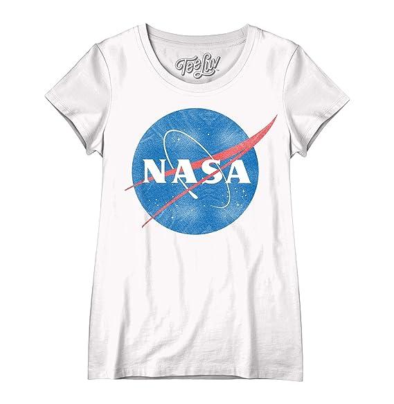 0a1713fe3 Amazon.com: Tee Luv NASA Womens Shirt - Vintage NASA Meatball Logo T ...