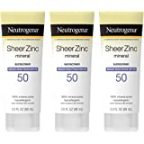 Neutrogena Sheer Zinc Oxide Dry-Touch Sunscreen Lotion with Broad Spectrum SPF 50, Water-Resistant, Hypoallergenic & Non…