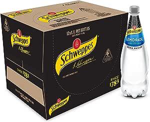 Schweppes Lemonade Zero Sugar Soft Drink, 12 x 1.1L