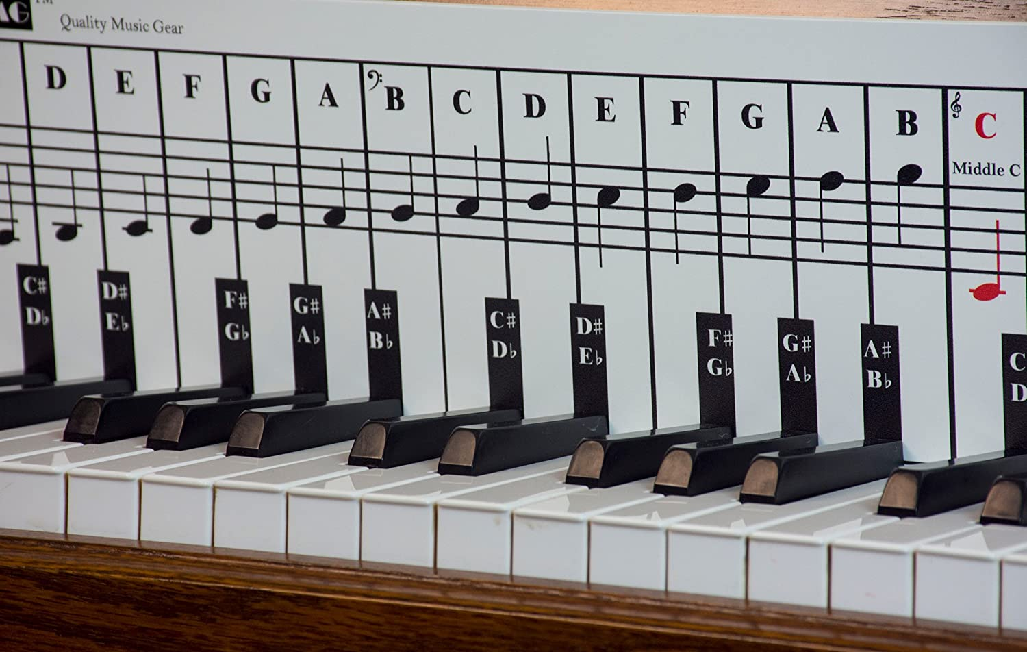 Piano and Keyboard Note Chart for Behind the Keys with Piano Songs EBook