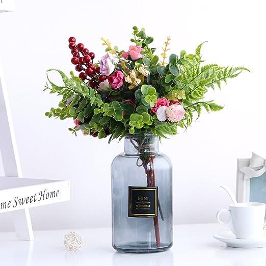 JUSTYOU Simulación europea flores secas sala de estar muebles para ...